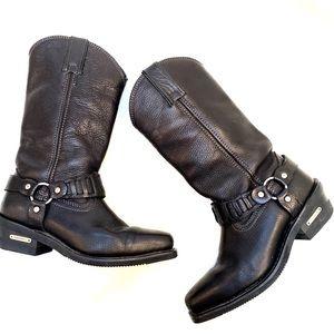 Harley Davidson Heel Black boots 6.5